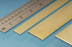 3 pcs 25mm x 0.6mm Brass Alloy Strip by Albion Alloys BS6M