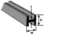 HFS-3 Plastruct - Styrene H Channel 2.4mm
