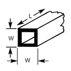 STFS-12 Plastruct - Square Tubes 9.50mm (90625)