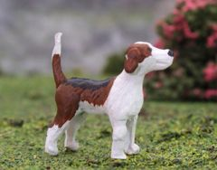 Foxhound Dog Standing Bluebell by HLT Miniatures WMA08