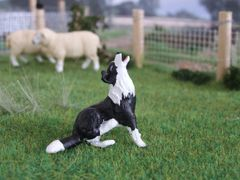 WMA13 Border Collie Dog Barking Badger by HLT Miniatures