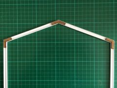 A Frame Roof and 2 x Side Supports to Fit Plastruct BFS-10 I Beams FB071