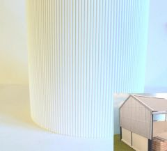FB036D White Corrugated Card 1:32 scale