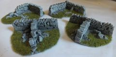 Corners/T Sections Grey Low Roadside Dry Stone Wall Any Scale PW1Corn