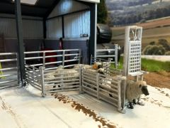 WM058 Sheep Race, Hurdles and Foot Bath 1:32 Scale by HLT Miniatures