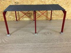 6m High Apex Roof Metal Shed 1:32 Scale HM60912 by Minimaker