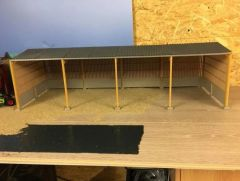 6m High Apex Roof Block and Yorkshire Board Metal Shed 1:32 Scale HBB60912 by Minimaker