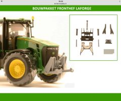 Front Linkage Kit Laforge 80.3 S John Deere 8R Series & 8030 1:32 Scale by Artisan 32 20643 (04125)