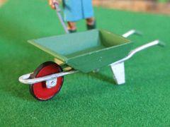 Green Wheelbarrow 1:32 scale by HLT Miniatures WM010G