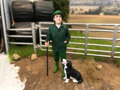 MAN WITH BORDER COLLIE E 1:32 SCALE AT-COLLECTIONS 32116