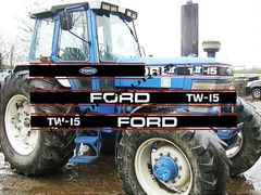 Ford TW-15 Gen II Tractor Self-adhesive Decals/Sticker for Britains TW15 1:32 Scale Dec27