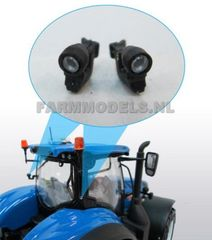 2 x Tractor Small Round Spotlights with support 1:32 Scale by Artisan 32 22427