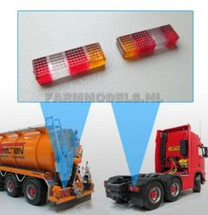 Rectangular Truck/Trailer Rear Tail Lights t 1:32 Scale by Artisan32 (22084)
