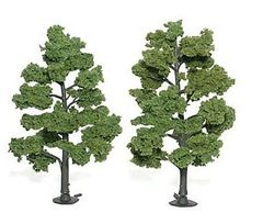 6-7in Light Green Trees (2) by Woodland Scenics WTR1515