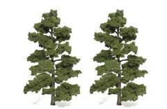 8-9in Med Green Trees (2) by Woodland Scenics WTR1519