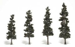 3-6in Conifer Green Trees (4) by Woodland Scenics WTR1561