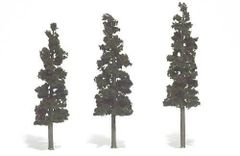 6-7in Conifer Green Trees (3) by Woodland Scenics WTR1562
