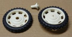 Set of 2 Rear Row Crop 56mm Wheels 1:32 Scale by Artisan 32 37064/W/04253B