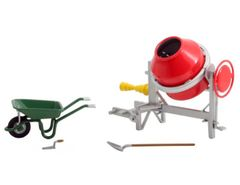 Wheelbarrow, Cement Mixer Set 1:32 scale by Universal Hobbies UH9623