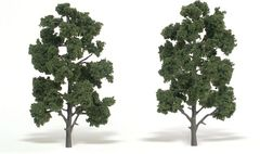 6-7in Medium Green Trees (2) by Woodland Scenics WTR1516