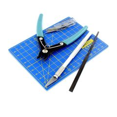 9 Piece Plastics Modelling Kit (includes sprue cutters) PTK1009