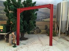 I Beam Single Roof Red Frame Shed (Prod. Code MIN07)