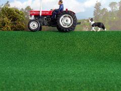 Flat Cut Lush Green Field Grass Mat MAT 12L Javis
