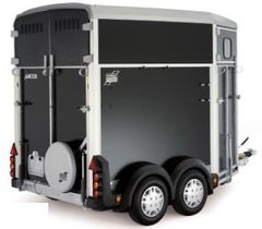 Black Ifor Williams Horse Box Trailer HB506 1:32 Scale by Britains 42916A2
