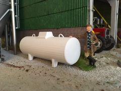 White Horizontal Fuel Tank by Minimaker (Prod. Code MIN024)