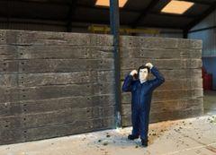 30 x Old Wood Railway Sleepers 1:32/1:35 Scale by Juweela 23359