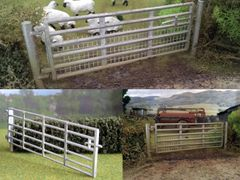 Gate and Post Set 15ft 1:32 Scale by HLT Miniatures WM035-15 (QUANTITY DISCOUNT AVAILABLE!)