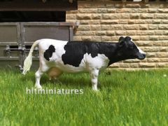 Holstein Cow 'Pooing' (Unpainted Resin Model) 1:32 Scale by HLT Miniatures FAB04