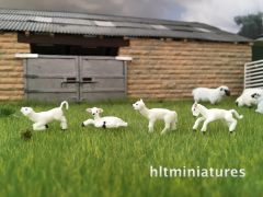 Lambs (4) 1:32 Scale Animals by FABScenics FAB12