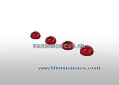 4.5mm Red Round Glimmer Transparent Lights (4) 1:32 Scale 22237