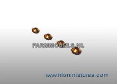 4mm Bronze Round Glimmer Transparent Lights (4) 1:32 Scale 22182