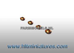 2.5mm Bronze Round Glimmer Transparent Lights (4) 1:32 Scale 22179