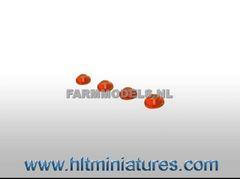 3.5mm Orange Round Glimmer Transparent Lights (4) 1:32 Scale 22151