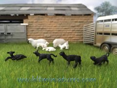 Black Sheep/Lambs (4) 1:32 Scale Animals by FABScenics FAB13