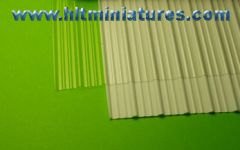 Corrugated White/Clear Iron/Tin/Metal Shed Roof Sheet Corrugated A3 Size Plastic 1:32 Scale by Minia-CN MCD-056 A/B