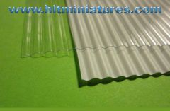 Corrugated White/Clear Shed Iron/Tin/Metal Roof Sheet Corrugated A3 Size Plastic 1:32 Scale by Minia-CN MCD-050 A/B