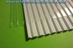 Box Corrugated White/Clear Shed Roof/Cladding Sheet Plastic 1:32 Scale by Minia-CN MCD-051-A/B