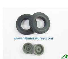 26x5.5mm Road Tread Wheels/Tyres Front Axle/Trailer 1:32 Scale by Artisan32 (Cat No. 30050/04224)