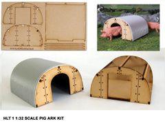 FB055 1 x Pig Ark Kit 1:32 Scale by HLT Miniatures