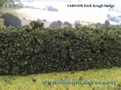 2 x superior detail rough hedges by FABScenics 1:32 scale FAB01DR/FAB01LR