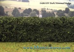 2 x superior detail cut/trimmed hedges by FABScenics 1:32 scale FAB01DT/FAB01LT