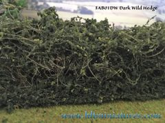2 x superior detail wild hedges by FABScenics 1:32 scale FAB01DW/FAB01LW