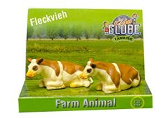 Pack of 2 Ayrshire Cows 1:32 Scale by Kids Globe 571969
