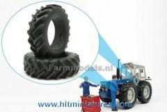 45.7mm 2 x Silver painted wheels/tyres Michelin Cargo X Bib 710/50 R30.5 tires (aluminum rims) Artisan 34250 / Z + B