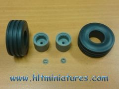 34x14.3mm Wheels/Tyres Front Axle 1:32 Scale by Artisan32 (Cat No. 30099/04262)