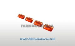 4x2.5mm Orange Rectangular Glimmer Transparent Lights (4) 1:32 Scale 22158 (04372)